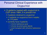personal clinical experience with oxypurinol