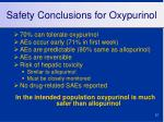 safety conclusions for oxypurinol