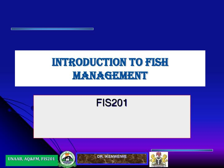 introduction to fish management n.