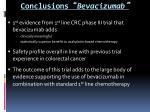 conclusions bevacizumab
