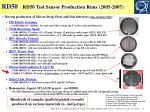 rd50 test sensor production runs 2005 2007