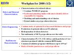 workplan for 2008 1 2