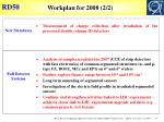 workplan for 2008 2 2