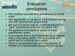 evaluation conclusions