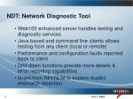 ndt network diagnostic tool