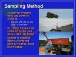 sampling method
