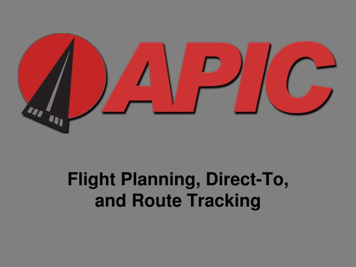 flight planning direct to and route tracking n.