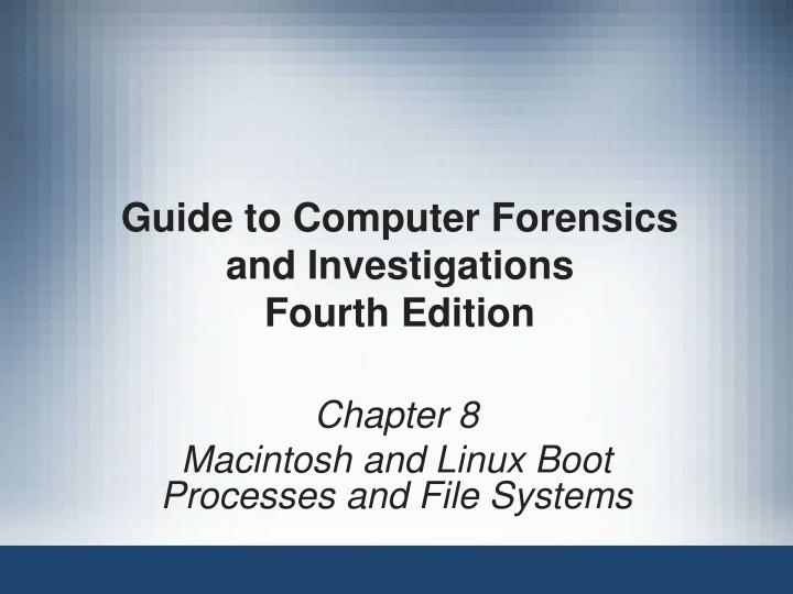 guide to computer forensics and investigations fourth edition n.