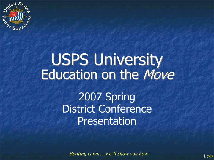 usps university education on the move n.