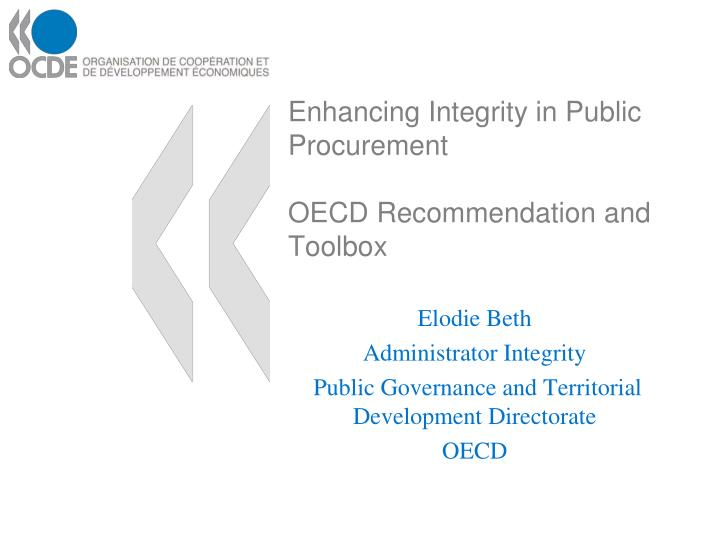 enhancing integrity in public procurement oecd recommendation and toolbox n.