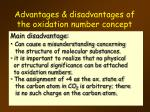 advantages disadvantages of the oxidation number concept2
