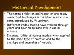 historical development6