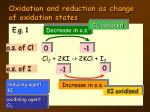 oxidation and reduction as change of oxidation states2