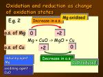 oxidation and reduction as change of oxidation states4