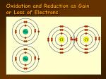oxidation and reduction as gain or loss of electrons2