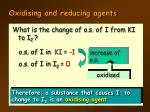 oxidising and reducing agents10