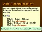 oxidising and reducing agents2