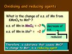 oxidising and reducing agents6