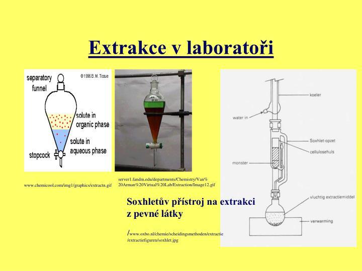 Extrakce v laboratoři
