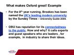 what makes oxford great example