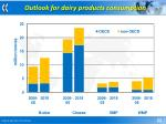 outlook for dairy products consumption