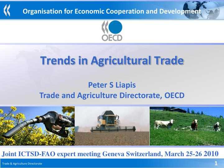 trends in agricultural trade n.