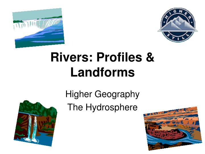 rivers profiles landforms n.