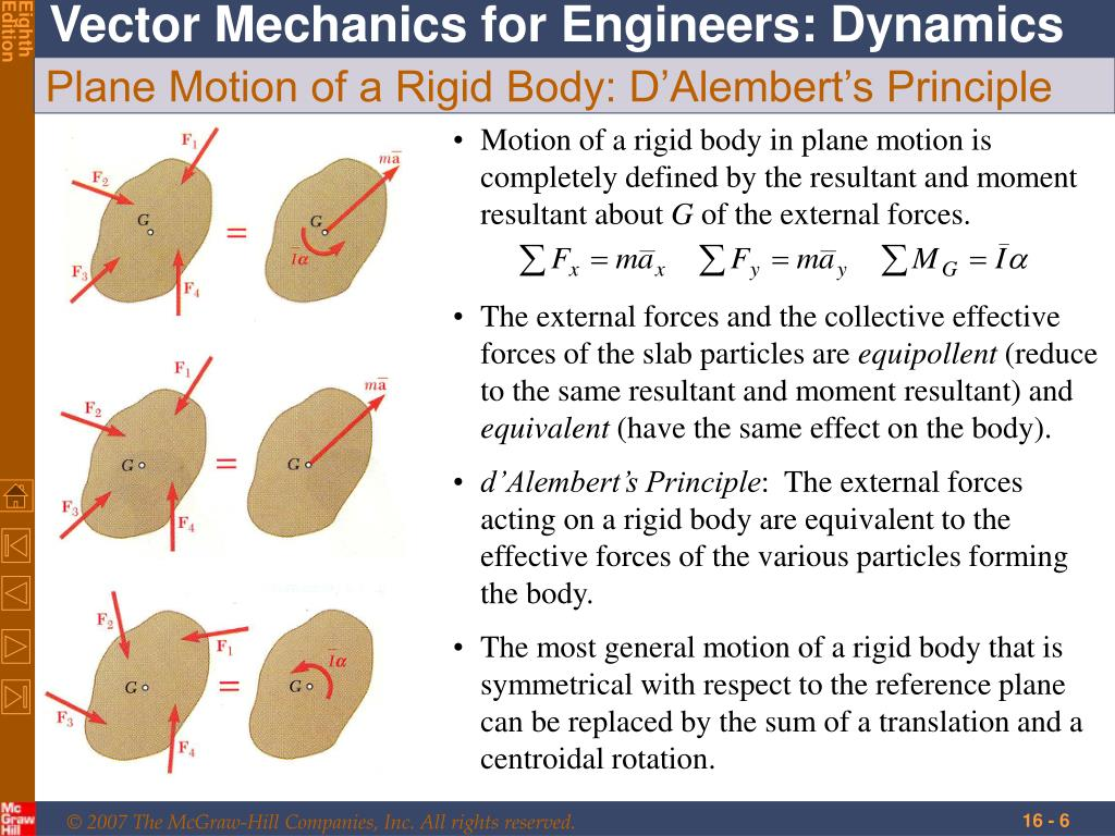 PPT - Plane Motion of Rigid Bodies: Forces and Accelerations