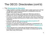 the oecd directorates cont d3