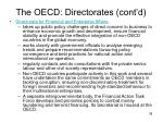 the oecd directorates cont d6
