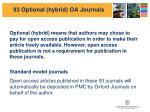 93 optional hybrid oa journals