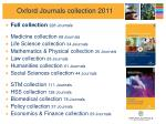 oxford journals collection 2011