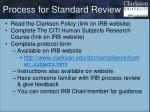 process for standard review