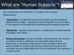 what are human subjects1