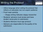 writing the protocol