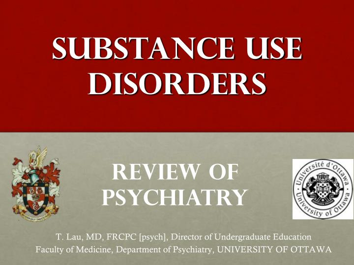 substance use disorders n.