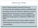 role of cphs