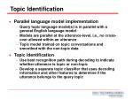topic identification