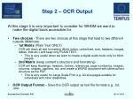 step 2 ocr output