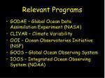 relevant programs