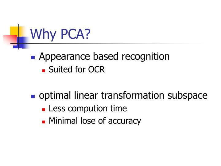 Why pca