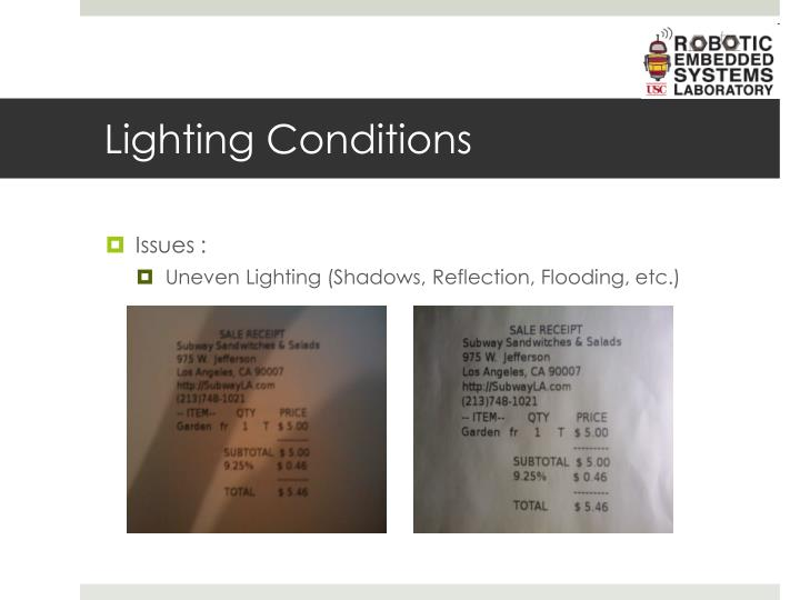 Lighting Conditions