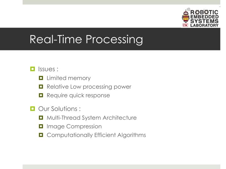 Real-Time Processing