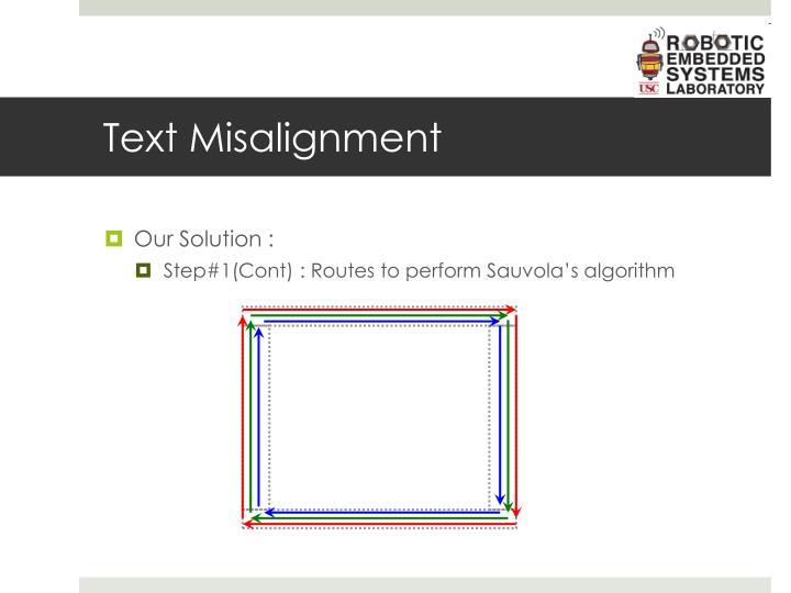 Text Misalignment