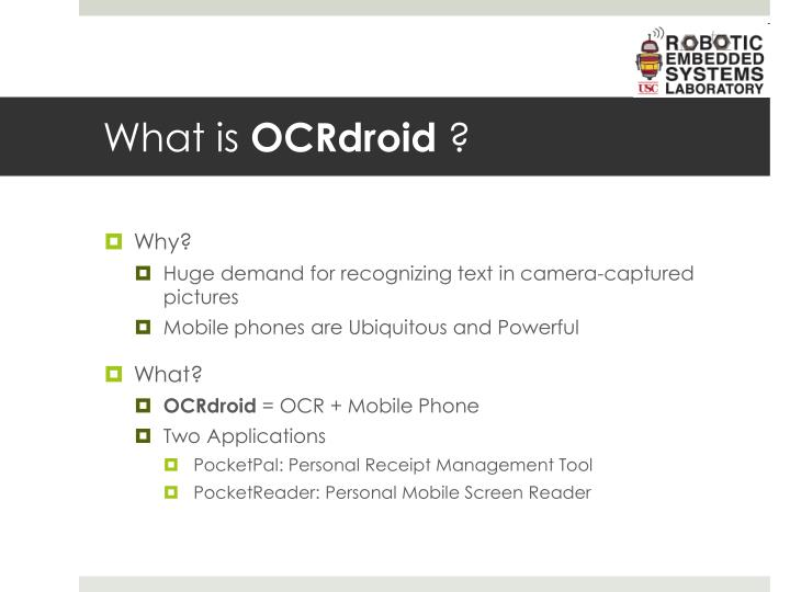 What is ocrdroid
