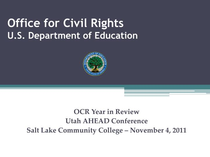 office for civil rights u s department of education n.