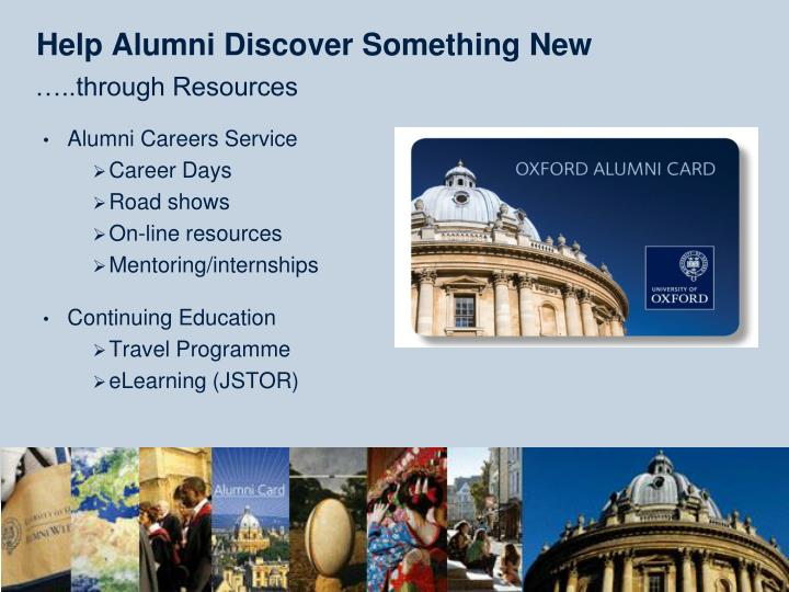 Help Alumni Discover Something New