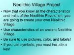 neolithic village project
