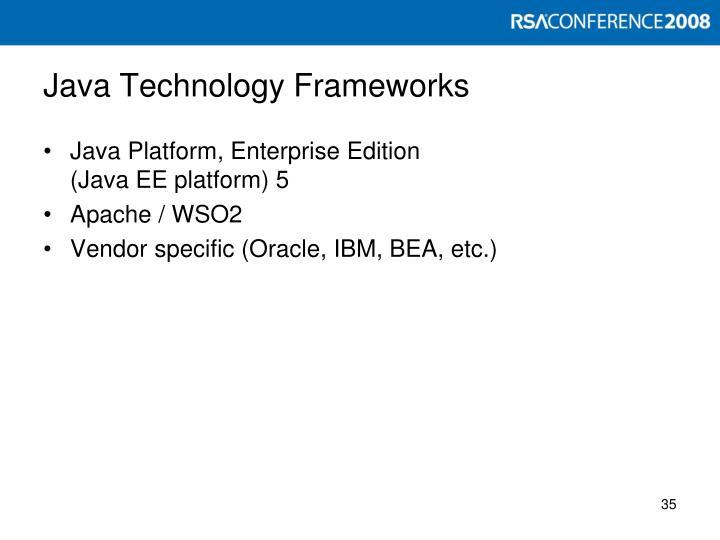 Java Technology Frameworks