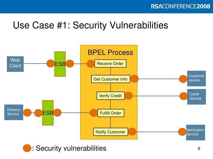 Use Case #1: Security Vulnerabilities